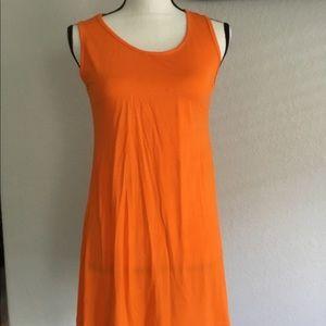 Orange Sundress size Medium Sleeveless Shift